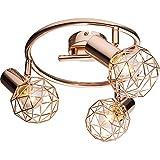 Luxus Decken Leuchte Schlaf Gäste Zimmer Rondell Kupfer Farben Kugel Lampe Globo 54805-3