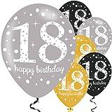 Amscan 990073653,3cm Celebration 18. Latex Luftballons