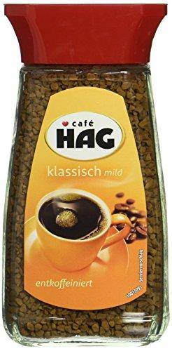 Cafe HAG klassisch mild Glas, entkoffeinierter löslicher Bohnenkaffee, 100g