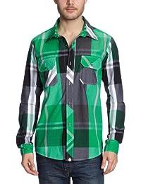 NOMIS Herren Shirt Long Sleeve Big Time Plaid