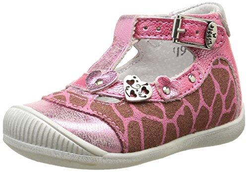 Little Mary Valeriane Baby Mädchen Sandalen Pink - Rose (Girafe Rose)