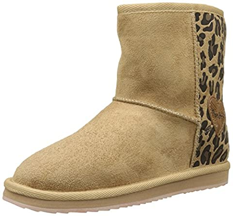 Pepe Jeans London Angel Leopard, Bottes Fille, Beige (Camel), 36 EU