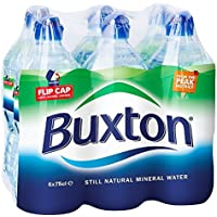 Buxton Still Natural Mineral Water Sports Cap Bottle, 6 x 750ml