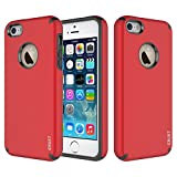 CRUST Shockproof Hybrid Hard Case for Apple iphone 5/5S/SE (Wine Red)