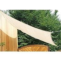 Floracord 06-77-25-00 HDPE Tendone piazza 2,5 x 3 m grano vento e acqua permeabile, compresi gli accessori con le cinghie elastiche in modo permanente