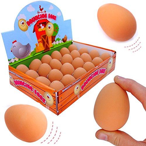 - 6 x Springball - Eier ★ NEU ★ ┃ Mitgebsel ┃ Kindergeburtstag ┃ Flummi Eier ┃ 6 Stück (Lustig Jungs-halloween Kostüme)