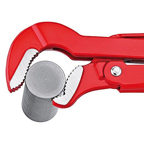 KNIPEX 83 30 010 Rohrzange S-Maul rot pulverbeschichtet 320 mm