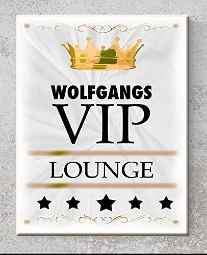 Keramik-Schild - VIP Lounge - Personalisiert mit Namen - Wandbild mit Spruch- Druck - Perfekt als Geschenk - Dekoration - Handmade von Bio Arts (Deco-keramik-fliese)