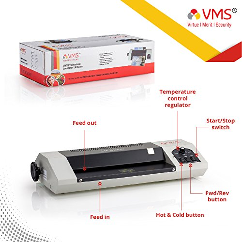 VMS Professional LM Super Lamination / Laminating Machine Hot & Cold A3 Laminator (Photos ID,I-Card,Documents,Certificate)