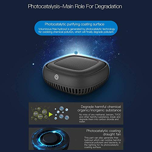 517Kst9FHXL. SS500  - Air Purifier with Pre, True HEPA Active Carbon Filter with Negative Ion Generator,Personal Desktop Room Air Cleaner for…