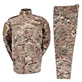Zhiyuanan Uomo Tattico Camouflage Suit 2 Pezzi Set Outdoor Caccia Trekking Campeggio Combat Militare Giacche da Trekking Impermeabili + Pantaloni Mimetico Abbigliamento CP 3XL