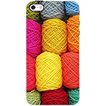 PrintDhaba COLORFUL WOOL D-6584 Back Case Cover for APPLE IPHONE 4S (Multi-Coloured)