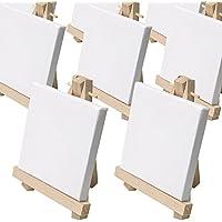 Set da 50 cavalletti da pittura in miniatura - mini-cavalletti ca. 9 x 11cm completi di una mini-tela 8 x 8 cm - 50 ° Anniversario Set