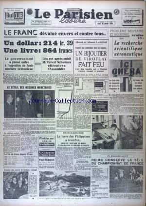 PARISIEN LIBERE EDITION DE PARIS (LE) [No 1046] du 26/01/1948