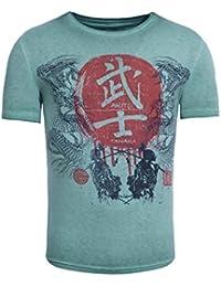 Akito Tanaka Herren T-Shirt Dragons Fight Japan Asiatisch Vintage Printshirt 04dfa834fe