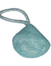 (2322) Sacoche De Poignet Perlée Pour Téléphone - Couleur : Bleu