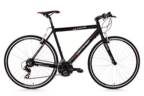 KS Cycling Fahrrad Fitnessbike Alu Lightspeed RH 58 cm, Schwarz, 28, 202B