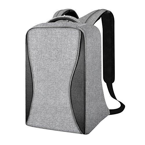 Valleycomfy 15.6 Zoll Laptop Rucksack Diebstahlschutz Wasserdicht mit USB Ladeanschluss (Grau) (Frauen Mini-rucksack Für Jansport)