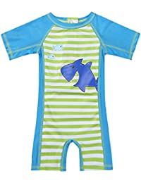 5b94e3b002 TiaoBug Baby Boys Girls One Piece Zip Rash Guard Sun Protection Swimsuit  Swimwear Wetsuit UPF 50