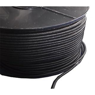 10 Meters, 3mm BLACK ELASTIC BUNGEE ROPE SHOCK CORD TIE DOWN HEAVY DUTY TARPAULIN SECURING SHOCK BUNGEE CORD