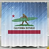HUANGLING Bigfoot California Republic Tenda da Doccia 152,4 x 182,9 cm