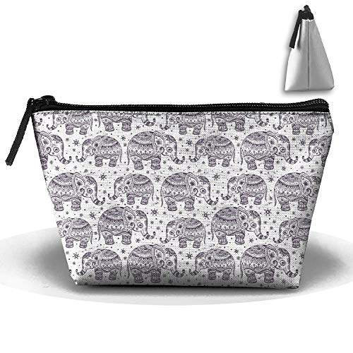 Ethnic Elephant Seamless Personality Portable Women Trapezoid Travel Bag Cosmetic Bag Receive Bag