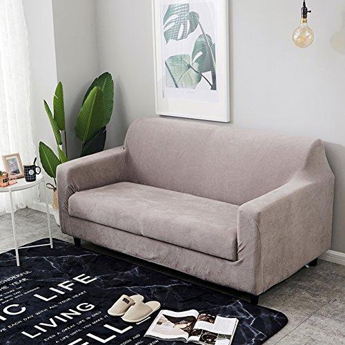 Dw&hx surefit copertura divano tratto 1-pezzo fodera per divano copridivano copertine antiscivolo antimacchia colore puro mobili coperture per 1 2 3 4 posti divano -grigio poltrona