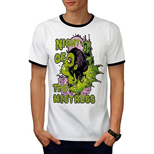 Nacht Von Herrin Zombie Horror USA Herren M Ringer T-shirt   (Zombie Herrin Kostüme)