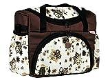 BABYLUX Wickeltasche Kinderwagentasche mit Wickelunterlage für Windeln Flaschen für Kinderwagen (41. Braun + Eule Beige)