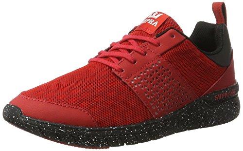 Speckle Supra Uomo Black Supra Sneaker Scissor Scissor Red Rot FOqx78xwa5