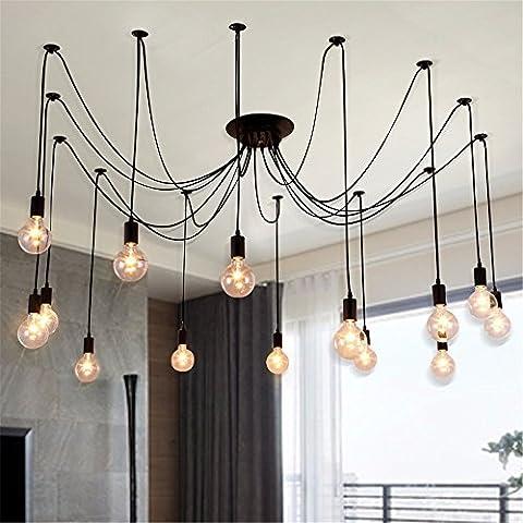 Ty1032-Testa singola piccoli lampadari a personalizzare il villaggio creativo lampadario in ferro lampadari creative lampade a soffitto lampade retrò 8 testa filo intrecciato 1,5 m