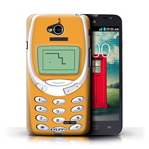Coque de Stuff4 / Coque pour LG L70/D320 / Nokia 8210 noir Design / Portables rétro Collection Nokia 3310 orange