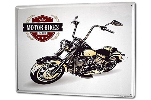 Blechschild XXL Motorrad Garage Chopper Motorrad