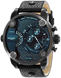 diesel homme 51mm noir cuir bracelet acier inoxydable boitier montre dz7334 montres. Black Bedroom Furniture Sets. Home Design Ideas