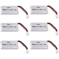 Tattu Hubsan X4 Batería LiPo 380mAh 3.7V 25C 1S Molex Plug para Hubsan H107C H107D H107L Syma X11 X11C TDR Spider