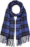 New Look Damen Schal Bright Blue Check, Blau Pattern, One Size (Herstellergröße: 99)