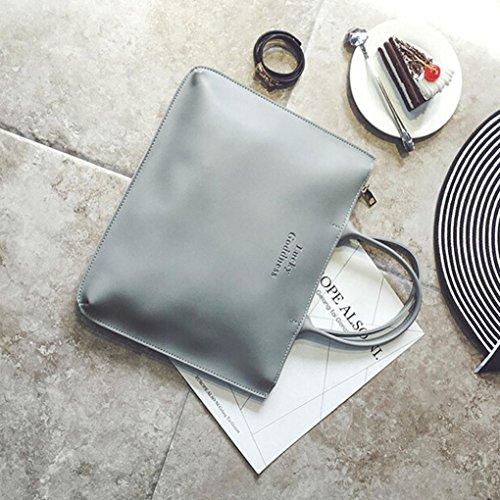 Singola spalla Messenger Bag Phone grigio