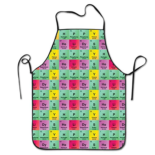 Science Teacher Funny Elements Periodic Table Biology Physics Unisex Cooking Kitchen Aprons Chef Apron Bib