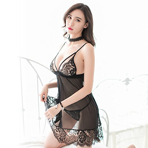 Sesexxy Sling chest SM nightclub Cosplay slim lace Halter romantic perspective three point type uniform temptation couple happy supplies free sexy lingerie