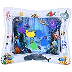 akaddy Baby Kids Water Play Mat Inflatable Infant Patted Pad Tummy Time Playmats