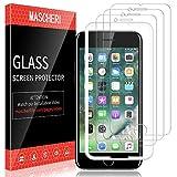 MASCHERI Schutzfolie für iPhone 7 panzerglas, [3 Pack] Bildschirmschutzfolie [Ausgestattet mit einem Einbaurahmen] Bildschirmschutz Bildschirmschutzfolie Glas Folie für iPhone 7 - Transparent
