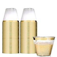 Cocktails, vin, bière ou jus. Tout ce dont vous avez besoin est un verre rose doré. Les gobelets en or rose sont faciles à tenir et parfaits pour toutes les boissons que vous pouvez imaginer. Remplissez-le au bord et vous avez 5 onces de boisson à l'...