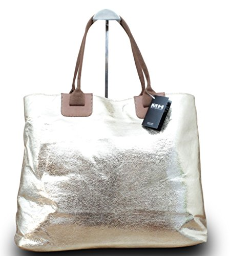 Shopper Donna Borsa A Tracolla Borsa A Mano It Bag Borsa Oro Argento, Colore Oro Oro