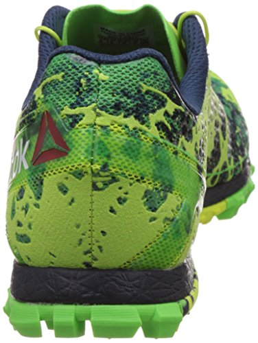 Reebok All Terrain Super Or, Scarpe da Corsa Uomo Verde / Azul / Blanco / Amarillo (Solar Green / Coll Navy / White / Solar Yellow)