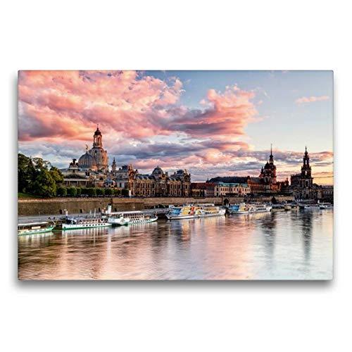 Calvendo Premium Textil-Leinwand 75 cm x 50 cm quer, Barockes Dresden   Wandbild, Bild auf...