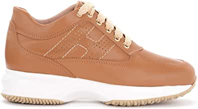 Hogan Sneaker Interactive in Pelle Color Cuoio, Taglia UK: