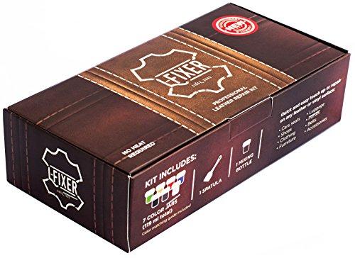 Kit de reparación de cuero L fixer: cualquier color, secado rápido, fácil de usar, fórmula científica