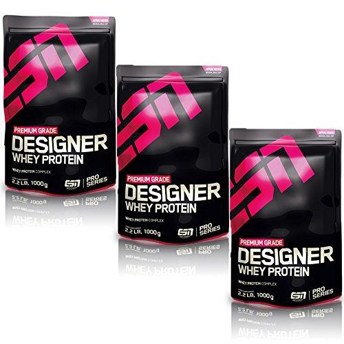ESN Designer Whey Protein, Vanilla, 3er Pack (3 x 1000g)