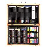 Darice Ensemble d'Artiste Professionnel dans Un Coffret en Bois (80 pièces), 1103-08, Multicolor, 36.8 x 23.1 x 7.4 cm