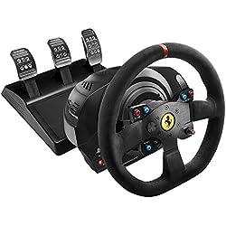 Thrustmaster - Volant T300 Ferrari Integral Racing Wheel Alcantara Edition - Volant retour de force en Alcantara réplique 8/10 de la Ferrari 599XX Evo - PS4/PS3/PC